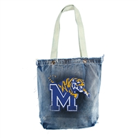 Memphis Tigers NCAA Vintage Denim Shopper