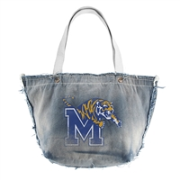 Memphis Tigers NCAA Vintage Denim Tote
