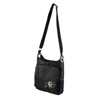 Colorado Golden Buffaloes NCAA Color Sheen Cross-body Bag (Black)