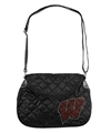 Wisconsin Badgers NCAA Sport Noir Quilted Saddlebag