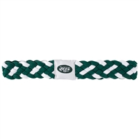 New York Jets NFL Braided Head Band 6 Braid