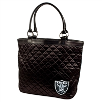 Little Earth Oakland Raiders NFL Quilted Tote (Black)