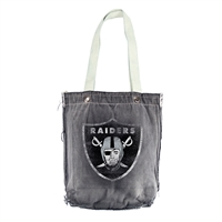 Little Earth Oakland Raiders NFL Vintage Denim Shopper