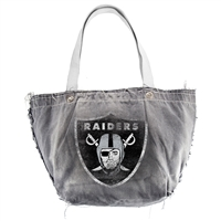 Little Earth Oakland Raiders NFL Vintage Denim Tote