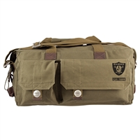 Little Earth Oakland Raiders NFL Prospect Deluxe Weekender Bag