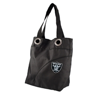 Little Earth Oakland Raiders NFL Color Sheen Tote (Black)