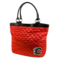 Calgary Flames NHL Quilted Tote (Light Red)