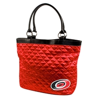 Carolina Hurricanes NHL Quilted Tote (Light Red)