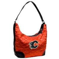 Calgary Flames NHL Quilted Hobo (Light Red)