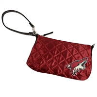 Arizona Coyotes NBA Quilted Wristlet (Dark Red)
