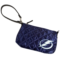 Tampa Bay Lightning NHL Quilted Wristlet (Navy)