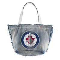 Winnipeg Jets NHL Vintage Denim Tote