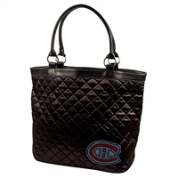 Montreal Canadiens NHL Sport Noir Quilted Tote