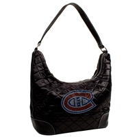 Montreal Canadiens NHL Sport Noir Quilted Hobo