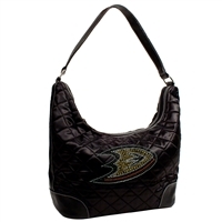 Anaheim Ducks NHL Sport Noir Quilted Hobo
