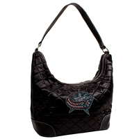 Columbus Blue Jackets NHL Sport Noir Quilted Hobo
