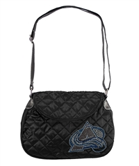 Colorado Avalanche NHL Sport Noir Quilted Saddlebag