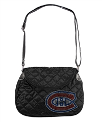 Montreal Canadiens NHL Sport Noir Quilted Saddlebag