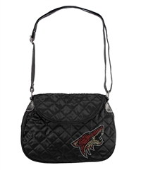 Arizona Coyotes NHL Sport Noir Quilted Saddlebag