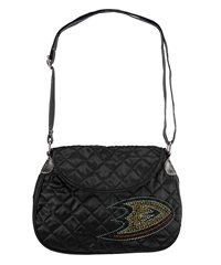 Anaheim Ducks NHL Sport Noir Quilted Saddlebag