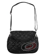 Carolina Hurricanes NHL Sport Noir Quilted Saddlebag