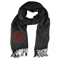Calgary Flames NHL Black Pashi Fan Scarf