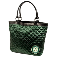 Oakland Athletics MLB Quilted Tote (Dark Green)
