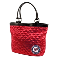 Washington Nationals MLB Quilted Tote (Light Red)