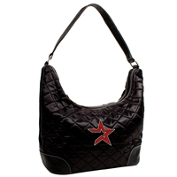 Houston Astros MLB Quilted Hobo (Black)