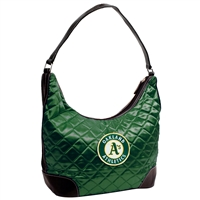 Oakland Athletics MLB Quilted Hobo (Dark Green)