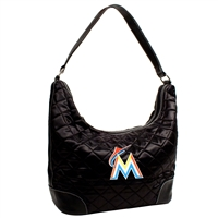 Miami Marlins MLB Quilted Hobo (Black)