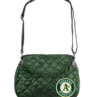 Oakland Athletics MLB Quilted Saddlebag (Dark Green)