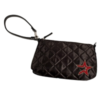 Houston Astros MLB Quilted Wristlet (Black)