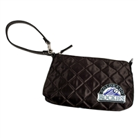 Colorado Rockies MLB Quilted Wristlet (Black)