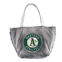 Oakland Athletics MLB Vintage Denim Tote