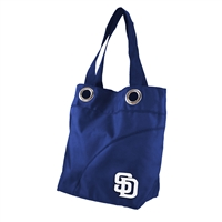 San Diego Padres MLB Color Sheen Tote (Navy)