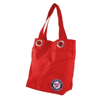 Washington Nationals MLB Color Sheen Tote (Light Red)