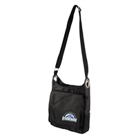 Colorado Rockies MLB Color Sheen Cross-body Bag (Black)