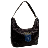 Kansas City Royals MLB Sport Noir Quilted Hobo