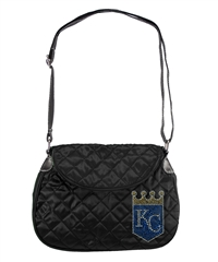Kansas City Royals MLB Sport Noir Quilted Saddlebag