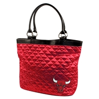 Chicago Bulls NBA Quilted Tote (Light Red)