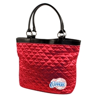 Los Angeles Clippers NBA Quilted Tote (Light Red)