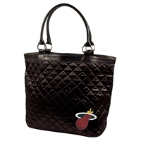 Miami Heat NBA Quilted Tote (Black)
