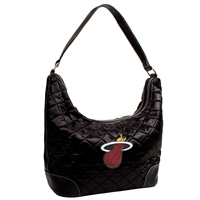 Miami Heat NBA Quilted Hobo (Black)