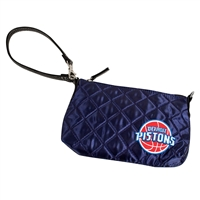 Detroit Pistons NBA Quilted Wristlet (Navy)