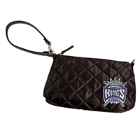 Sacramento Kings NBA Quilted Wristlet (Black)