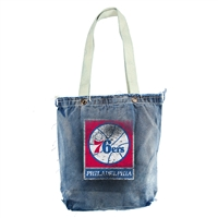Philadelphia 76ers NBA Vintage Denim Shopper
