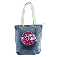 Detroit Pistons NBA Vintage Denim Shopper