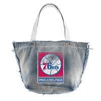 Philadelphia 76ers NBA Vintage Denim Tote