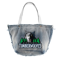 Minnesota Timberwolves NBA Vintage Denim Tote